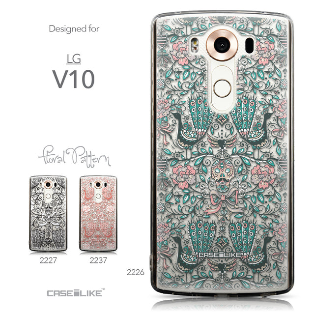 Collection - CASEiLIKE LG V10 back cover Roses Ornamental Skulls Peacocks 2226