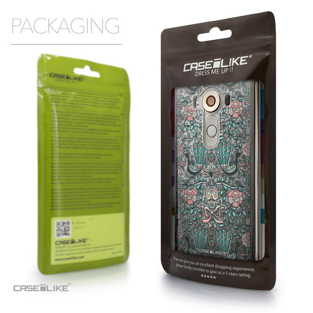 Packaging - CASEiLIKE LG V10 back cover Roses Ornamental Skulls Peacocks 2226