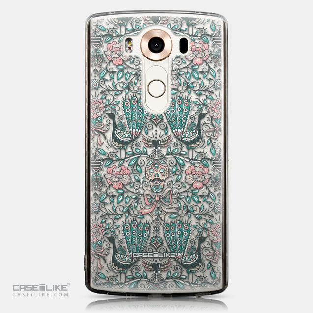 CASEiLIKE LG V10 back cover Roses Ornamental Skulls Peacocks 2226