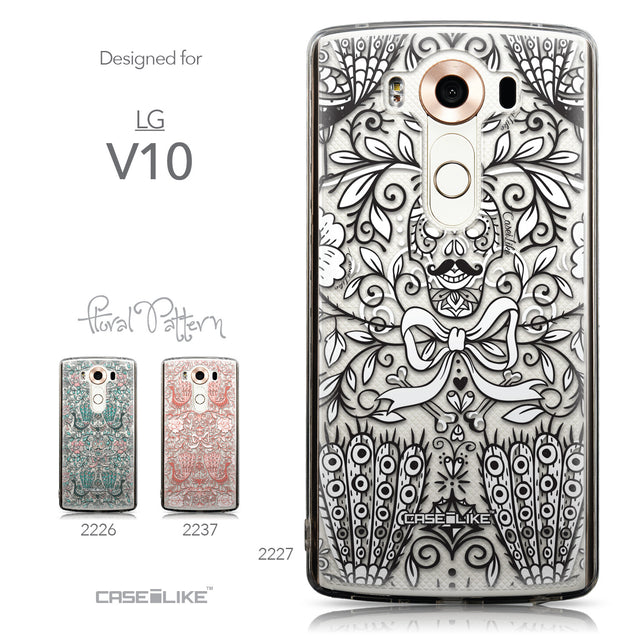 Collection - CASEiLIKE LG V10 back cover Roses Ornamental Skulls Peacocks 2227