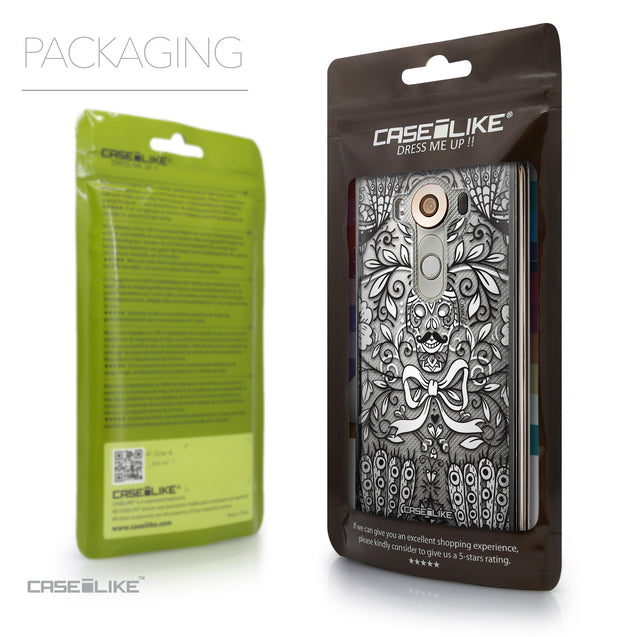 Packaging - CASEiLIKE LG V10 back cover Roses Ornamental Skulls Peacocks 2227