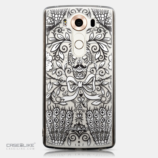 CASEiLIKE LG V10 back cover Roses Ornamental Skulls Peacocks 2227