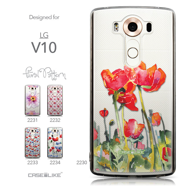 Collection - CASEiLIKE LG V10 back cover Watercolor Floral 2230