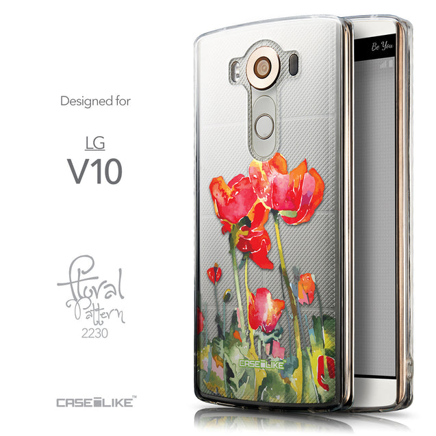 Front & Side View - CASEiLIKE LG V10 back cover Watercolor Floral 2230