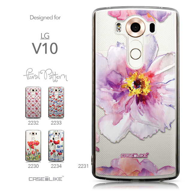 Collection - CASEiLIKE LG V10 back cover Watercolor Floral 2231