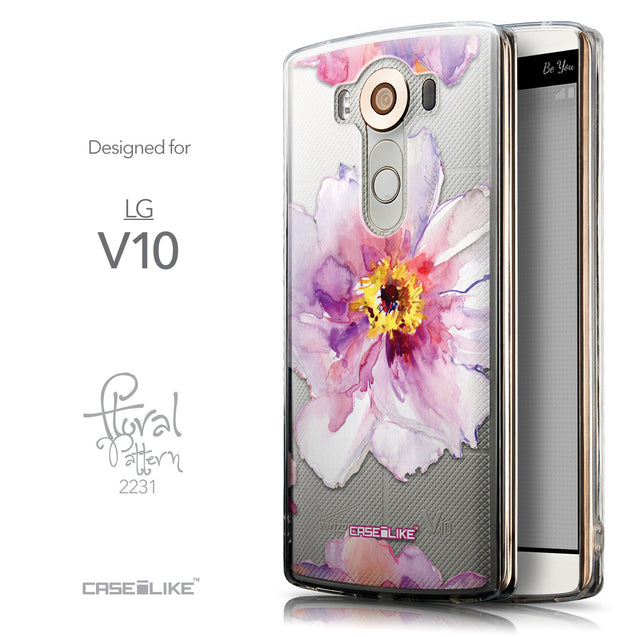 Front & Side View - CASEiLIKE LG V10 back cover Watercolor Floral 2231