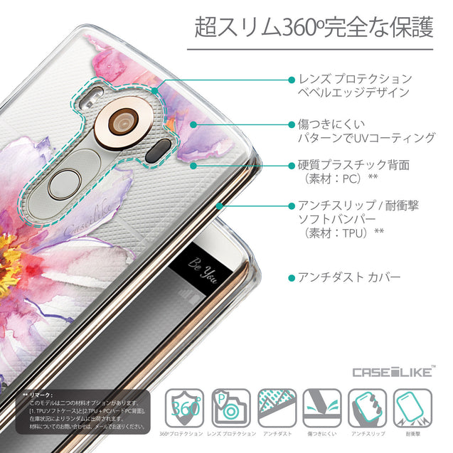 Details in Japanese - CASEiLIKE LG V10 back cover Watercolor Floral 2231