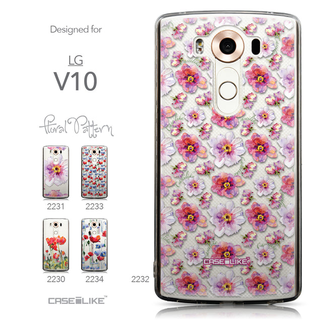 Collection - CASEiLIKE LG V10 back cover Watercolor Floral 2232