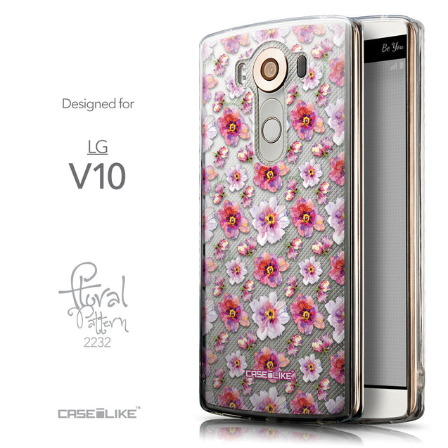Front & Side View - CASEiLIKE LG V10 back cover Watercolor Floral 2232