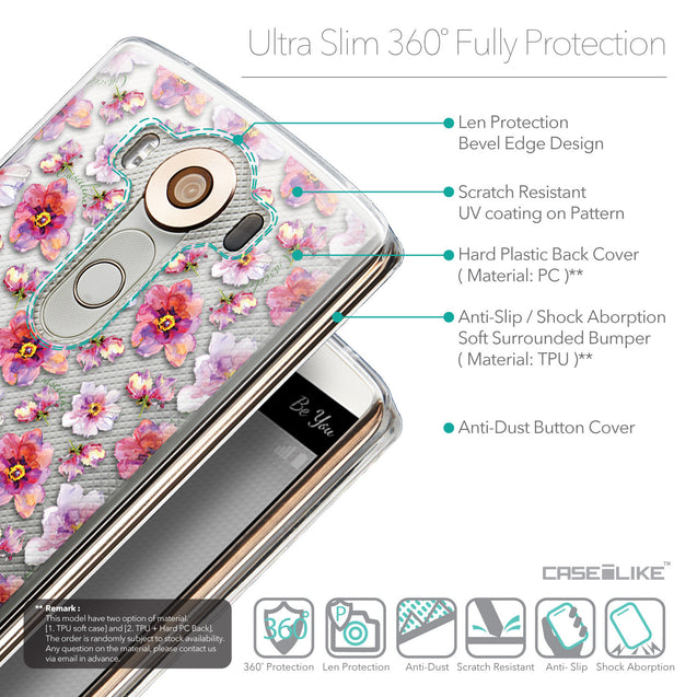 Details in English - CASEiLIKE LG V10 back cover Watercolor Floral 2232