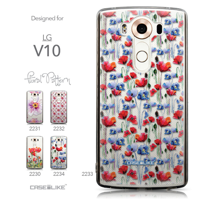 Collection - CASEiLIKE LG V10 back cover Watercolor Floral 2233