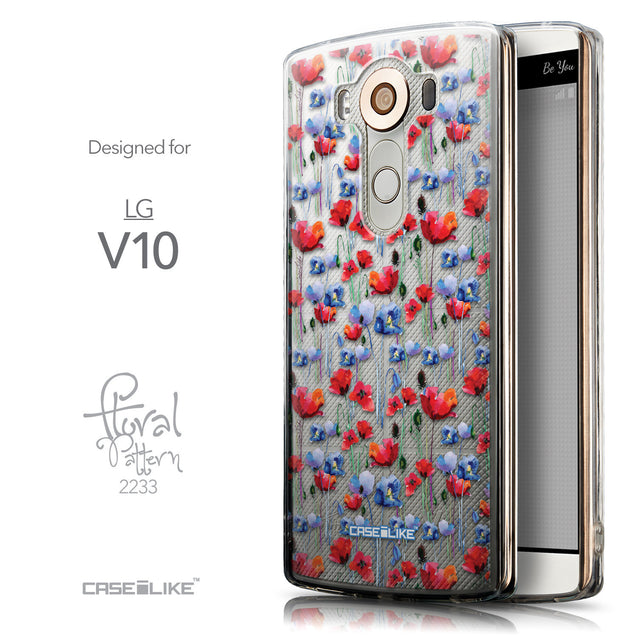 Front & Side View - CASEiLIKE LG V10 back cover Watercolor Floral 2233