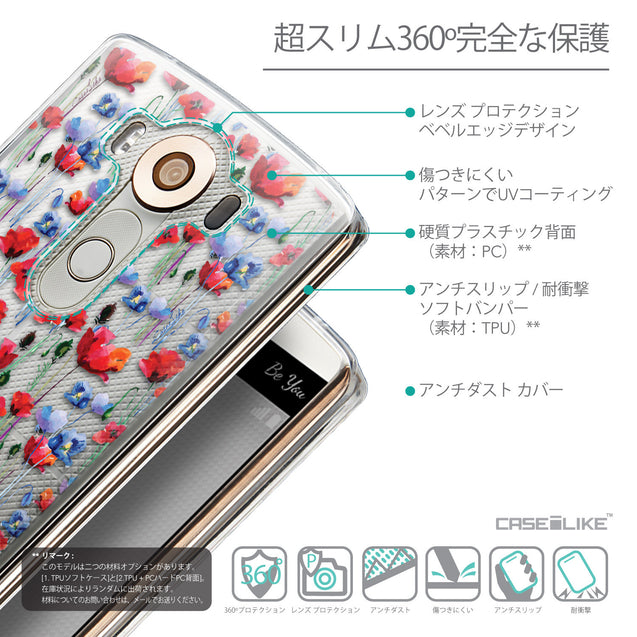Details in Japanese - CASEiLIKE LG V10 back cover Watercolor Floral 2233