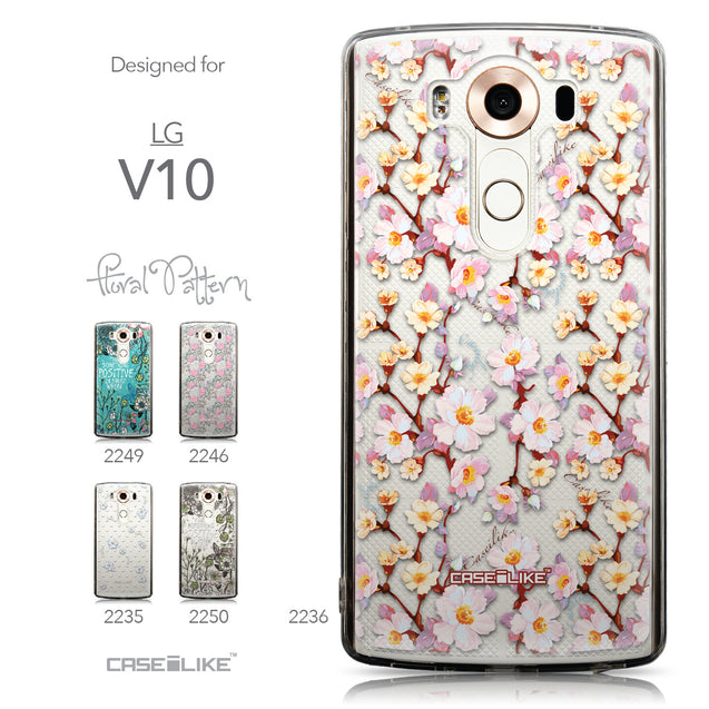 Collection - CASEiLIKE LG V10 back cover Watercolor Floral 2236