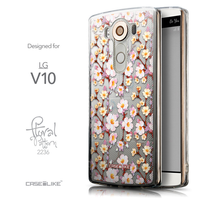 Front & Side View - CASEiLIKE LG V10 back cover Watercolor Floral 2236