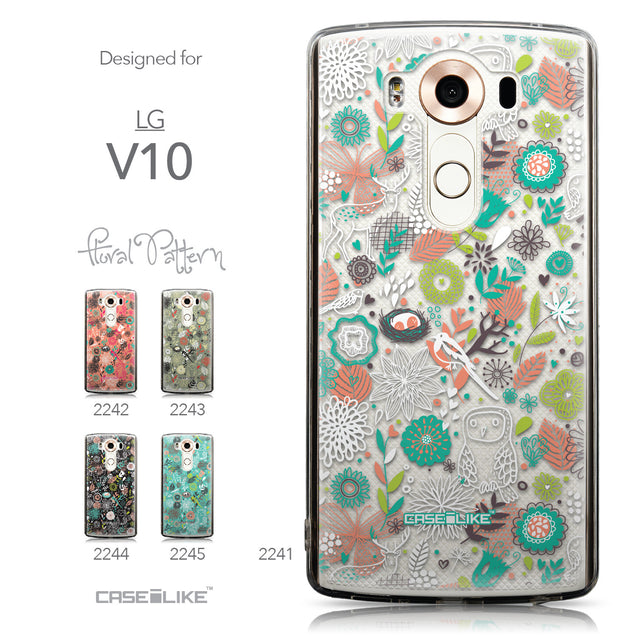 Collection - CASEiLIKE LG V10 back cover Spring Forest White 2241