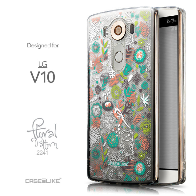 Front & Side View - CASEiLIKE LG V10 back cover Spring Forest White 2241