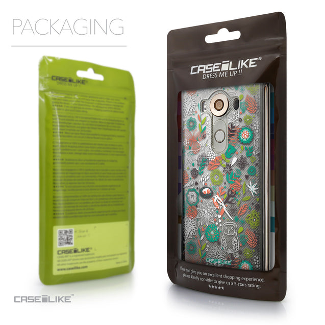 Packaging - CASEiLIKE LG V10 back cover Spring Forest White 2241