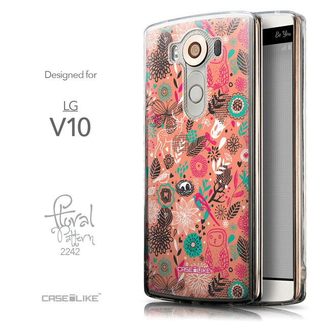 Front & Side View - CASEiLIKE LG V10 back cover Spring Forest Pink 2242
