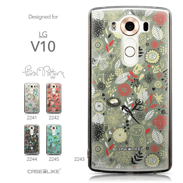 Collection - CASEiLIKE LG V10 back cover Spring Forest Gray 2243
