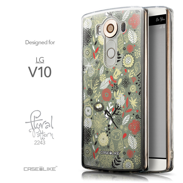 Front & Side View - CASEiLIKE LG V10 back cover Spring Forest Gray 2243
