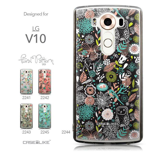 Collection - CASEiLIKE LG V10 back cover Spring Forest Black 2244
