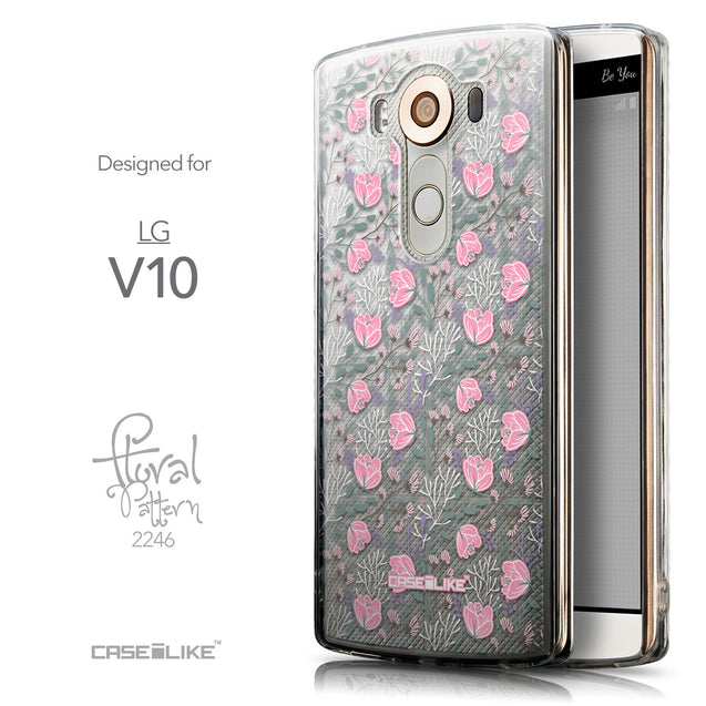 Front & Side View - CASEiLIKE LG V10 back cover Flowers Herbs 2246