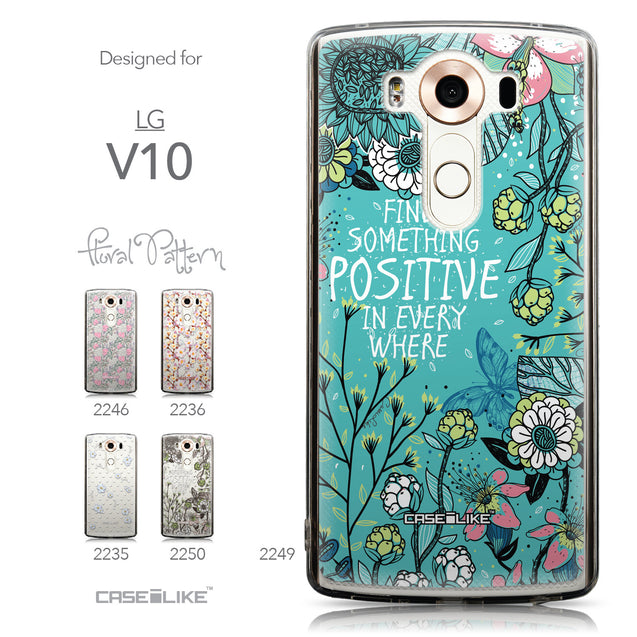 Collection - CASEiLIKE LG V10 back cover Blooming Flowers Turquoise 2249