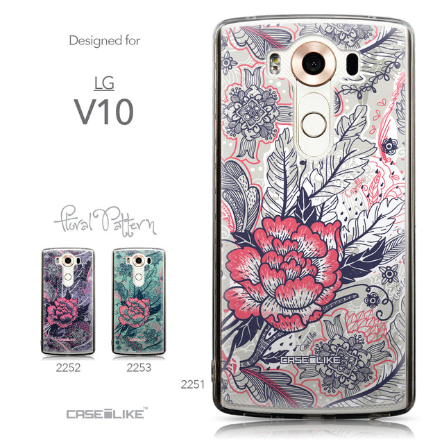 Collection - CASEiLIKE LG V10 back cover Vintage Roses and Feathers Beige 2251