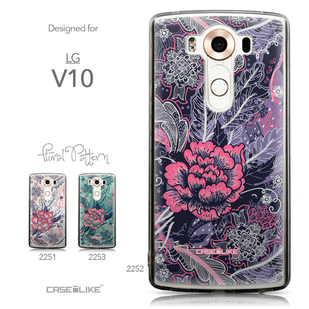 Collection - CASEiLIKE LG V10 back cover Vintage Roses and Feathers Blue 2252