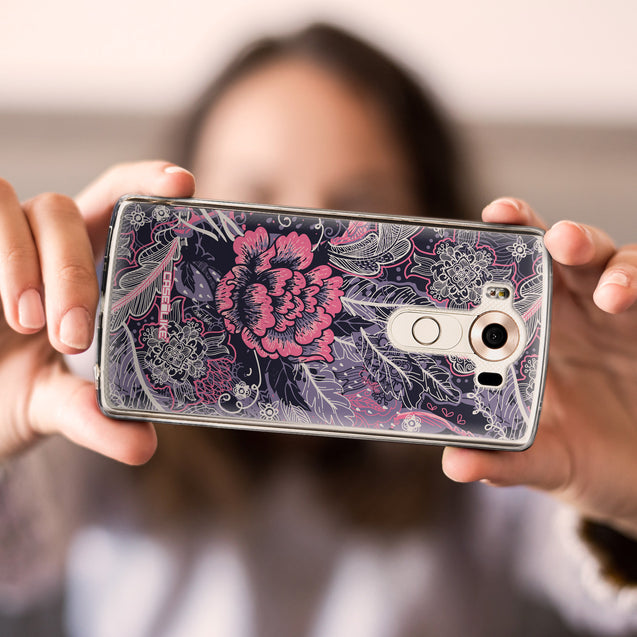 Share - CASEiLIKE LG V10 back cover Vintage Roses and Feathers Blue 2252
