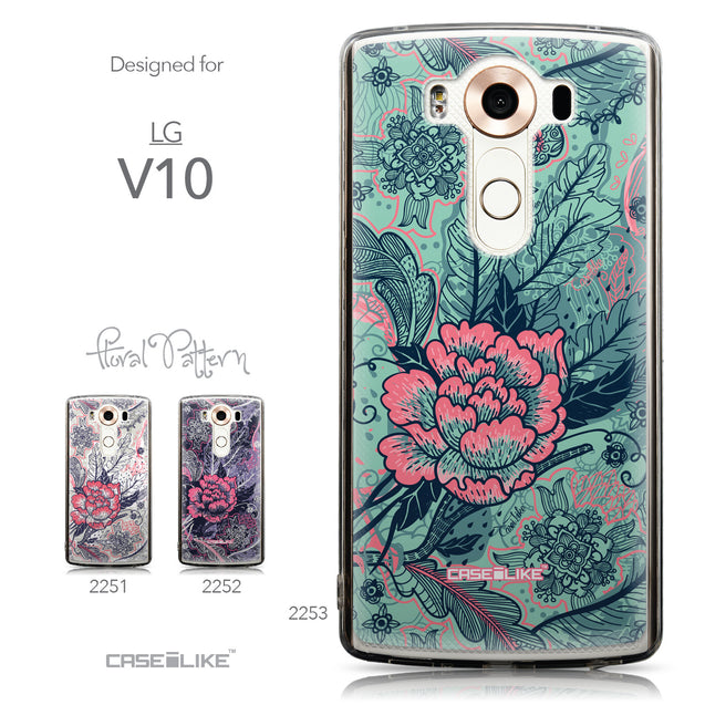Collection - CASEiLIKE LG V10 back cover Vintage Roses and Feathers Turquoise 2253
