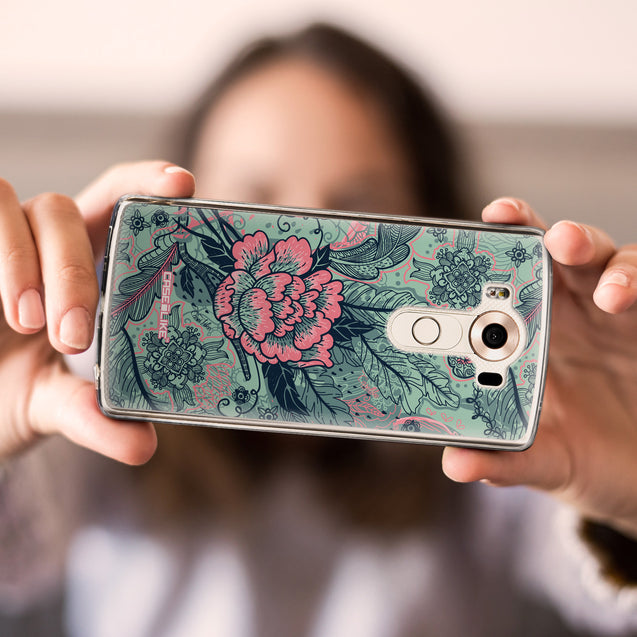 Share - CASEiLIKE LG V10 back cover Vintage Roses and Feathers Turquoise 2253