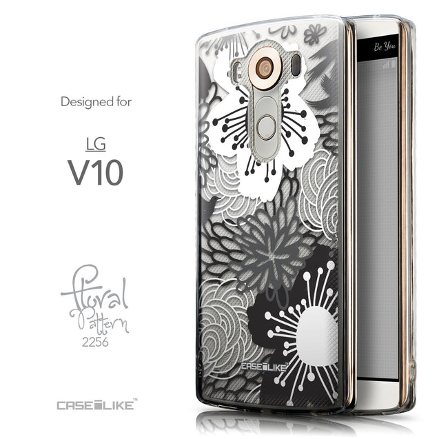 Front & Side View - CASEiLIKE LG V10 back cover Japanese Floral 2256