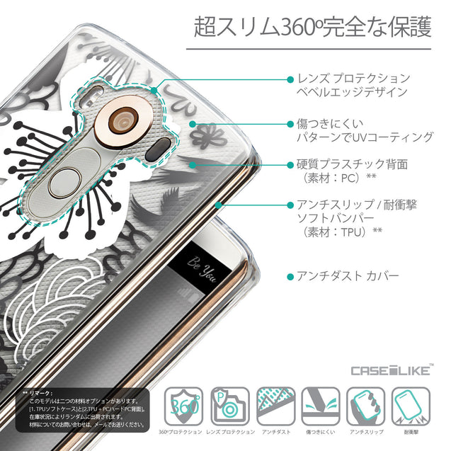 Details in Japanese - CASEiLIKE LG V10 back cover Japanese Floral 2256