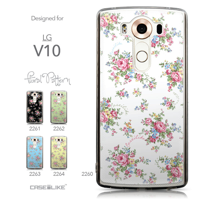 Collection - CASEiLIKE LG V10 back cover Floral Rose Classic 2260