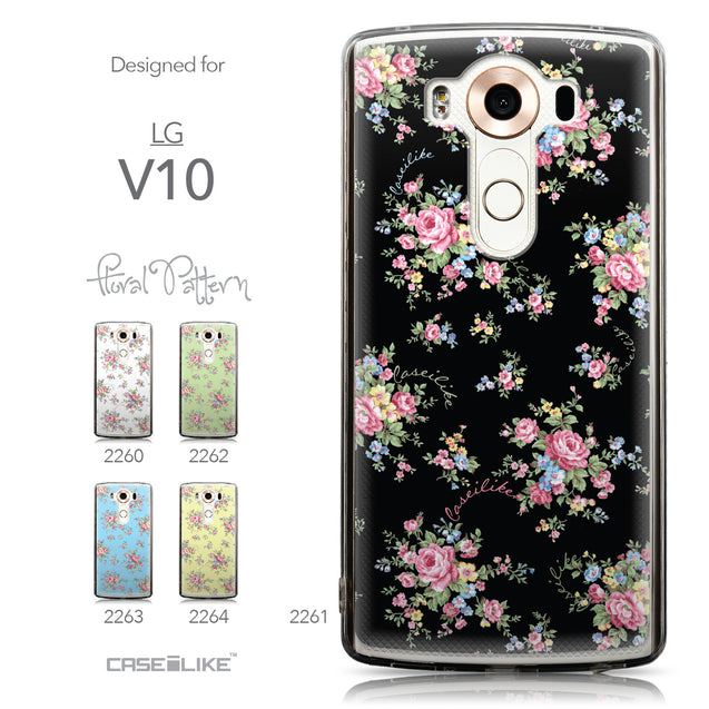 Collection - CASEiLIKE LG V10 back cover Floral Rose Classic 2261