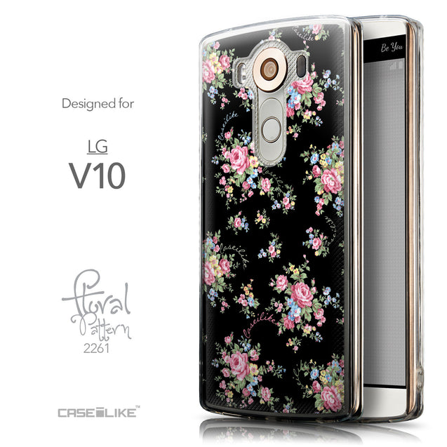 Front & Side View - CASEiLIKE LG V10 back cover Floral Rose Classic 2261