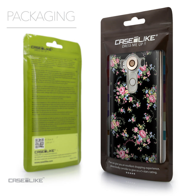 Packaging - CASEiLIKE LG V10 back cover Floral Rose Classic 2261