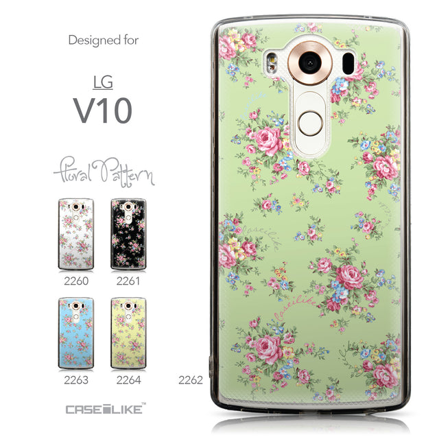 Collection - CASEiLIKE LG V10 back cover Floral Rose Classic 2262