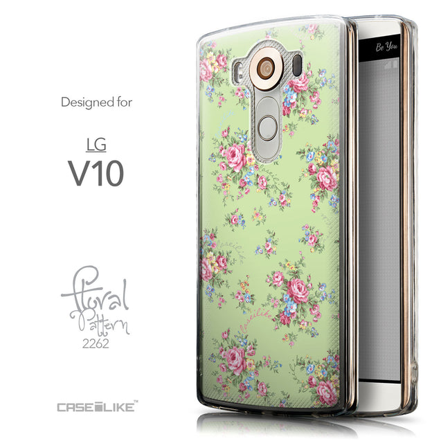 Front & Side View - CASEiLIKE LG V10 back cover Floral Rose Classic 2262