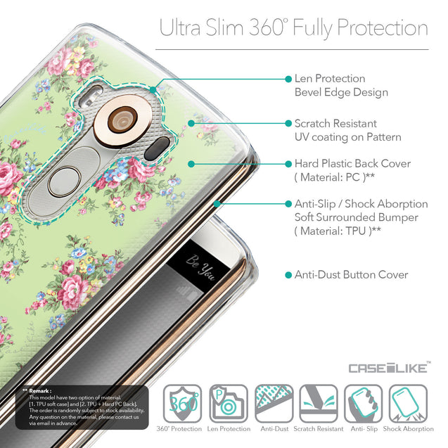 Details in English - CASEiLIKE LG V10 back cover Floral Rose Classic 2262