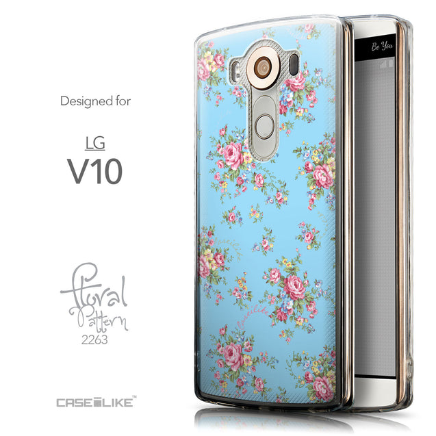 Front & Side View - CASEiLIKE LG V10 back cover Floral Rose Classic 2263