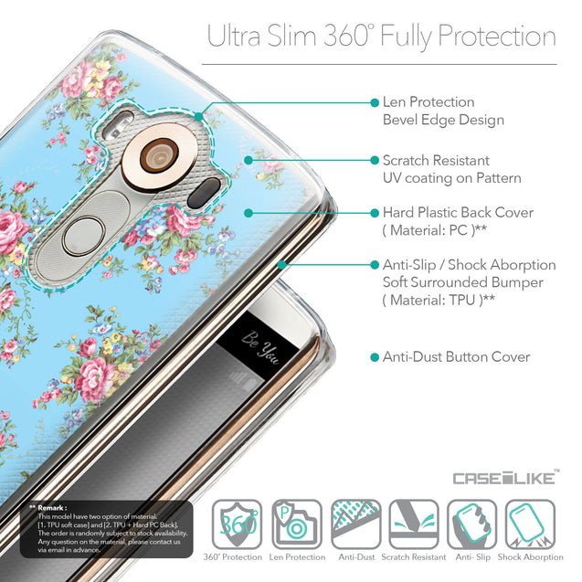 Details in English - CASEiLIKE LG V10 back cover Floral Rose Classic 2263
