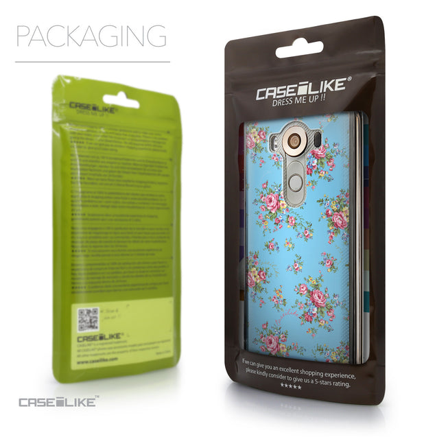 Packaging - CASEiLIKE LG V10 back cover Floral Rose Classic 2263