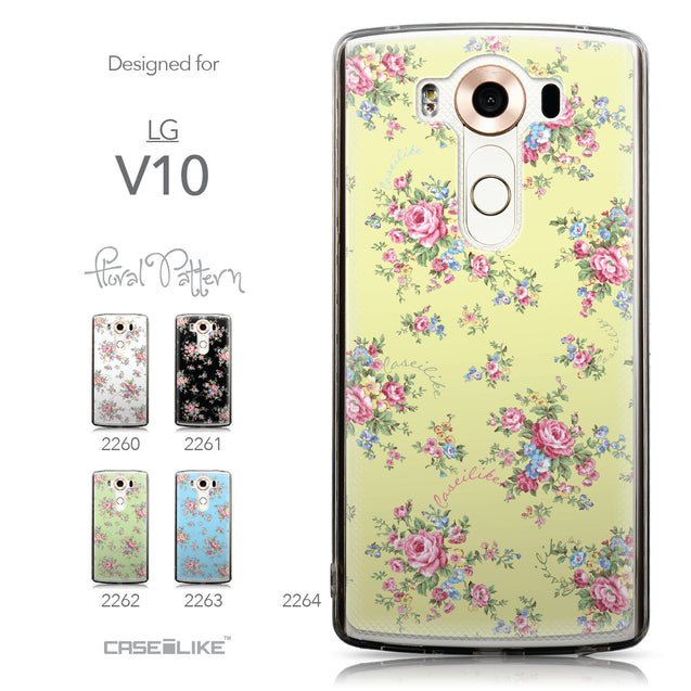Collection - CASEiLIKE LG V10 back cover Floral Rose Classic 2264