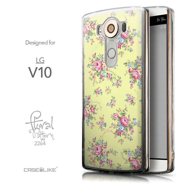 Front & Side View - CASEiLIKE LG V10 back cover Floral Rose Classic 2264