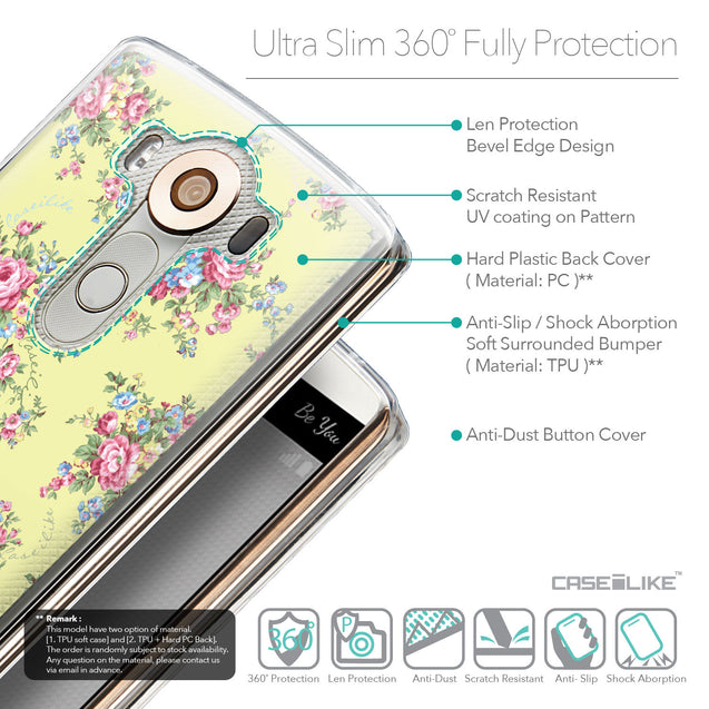 Details in English - CASEiLIKE LG V10 back cover Floral Rose Classic 2264