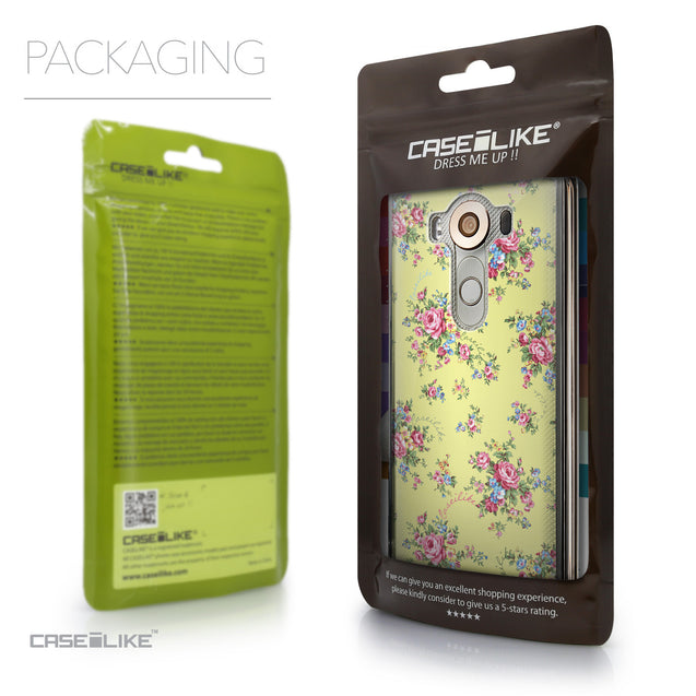 Packaging - CASEiLIKE LG V10 back cover Floral Rose Classic 2264