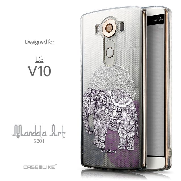 Front & Side View - CASEiLIKE LG V10 back cover Mandala Art 2301
